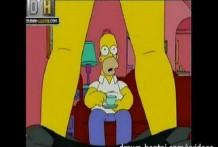 porno cartoon trio en los simpsons