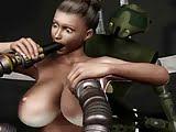 Follando con el robot hentai 3d