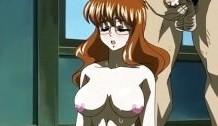 Un poco de leche en sus pechos anime