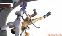 Animacion 3D Robots Follando Duro