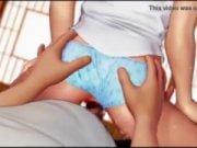 Buen video 3D de chica colegiala
